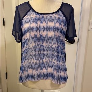 American Eagle Outfitters Sheer Top Blue